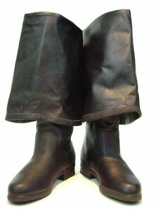 Caribbean-Pirate-Renaissance-Style-Boots-in-Leather
