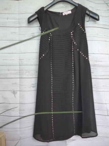 Sheego Eventkleid Kleid Gr 44-48 schwarz Pailletten Kurz Long Größen 764