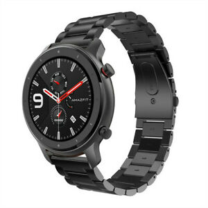 For-AMAZFIT-GTR-Smart-Watch-47mm-Stainless-Steel-Wrist-Strap-Metal-Wristband
