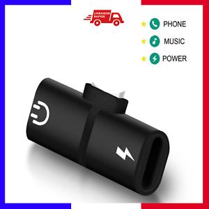 Adaptateur-2-en-1-charge-et-ecouteur-double-8-pin-pour-IPhone-7-8-X