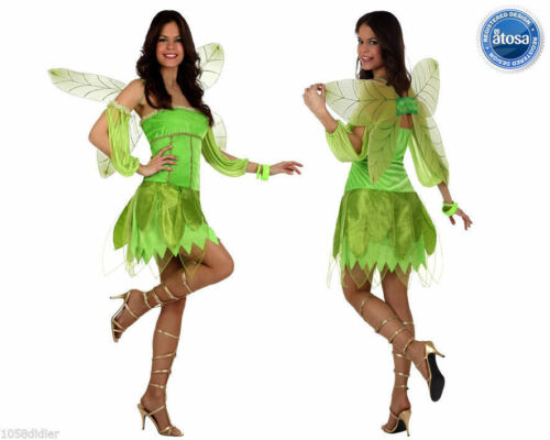 Costume Fairies Tinker Bell Green Woman M//L 40//42 Drawing Cartoon New Cheap