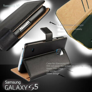 detailed pictures d6f9b 49cef Details about Case For Samsung Galaxy S5 Leather Magnetic Flip Case Cover  Wallet Stand