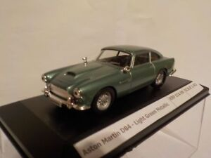Aston-Martin-DB4-Light-Green-Metallic-Model-Cars-1-43-Scale-New-And-Sealed