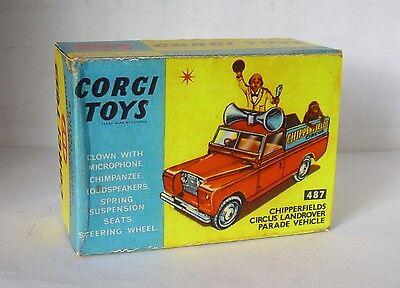 Corgi boîte box repro 487 chipperfields circus land rover parade vehicle