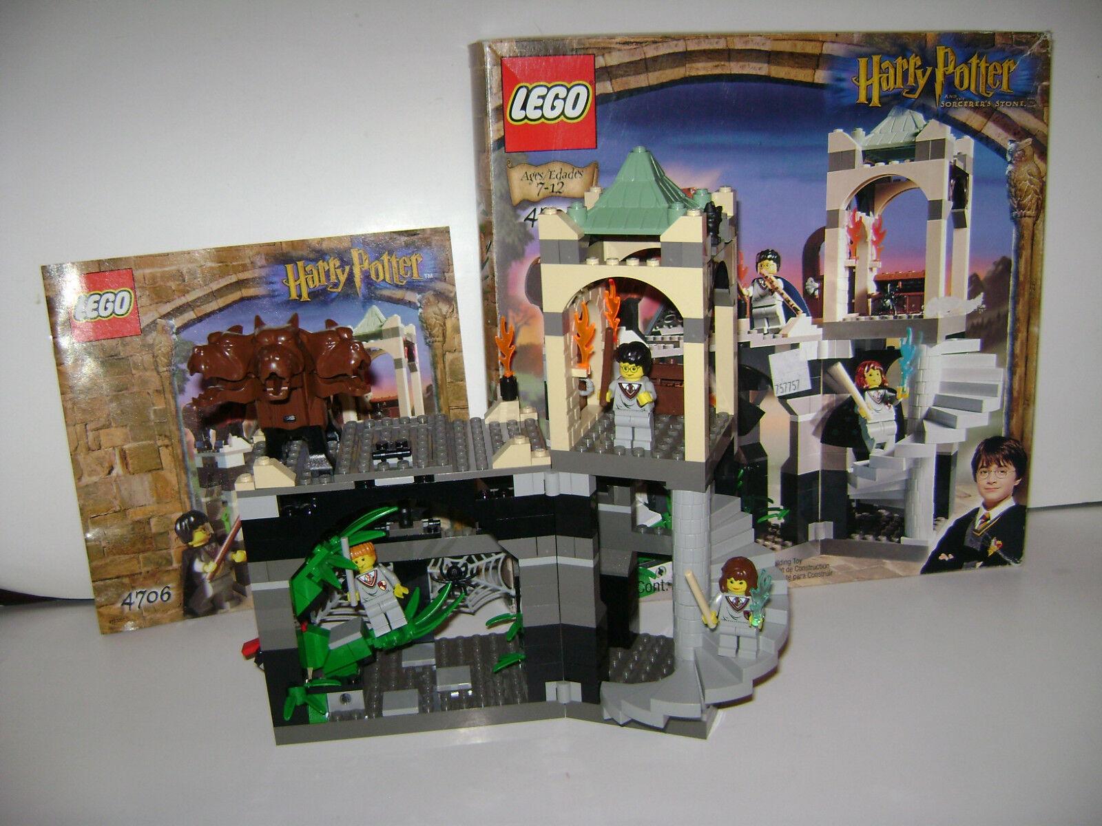 LEGO 4706 SET Harry Potter Forbidden Corridor Fluffy Minifigs COMPLETE RETIRED