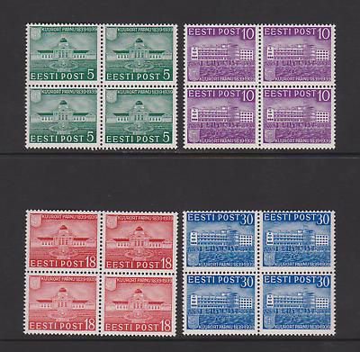 Briefmarken Estland 148-151 Viererblöcke Aus 1939 Postfrisch Einwandfrei Reines Und Mildes Aroma