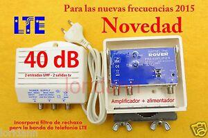 AMPLIFICADOR-ANTENA-Tv-TdT-DE-MASTIL-2-ENTRADAS-40-dB-LTE-Fuente-150mA