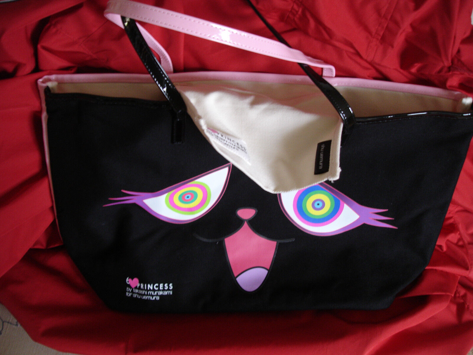 TAKASHI MURAKAMI X SHU UEMURA 2-SIDED 6 HP TM//KK MOVIE TOTE BAG 1 SEALED /& NEW