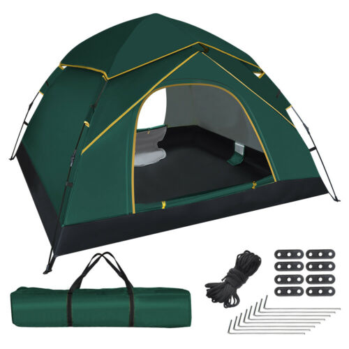 Automatikzelt Wurfzelt Pop up Zelt Campingzelt Familienzelt Strand 3-4 Persone