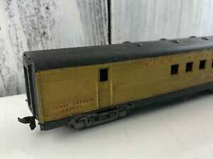 Vintage-ATHEARN-HO-2130-UNION-PACIFIC-Railway-Post-Office-Yellow-Car