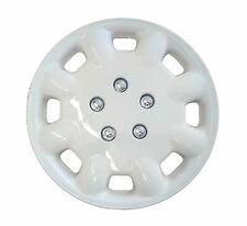 Pair MILENCO 35.6cm White Deluxe Wheel Trims