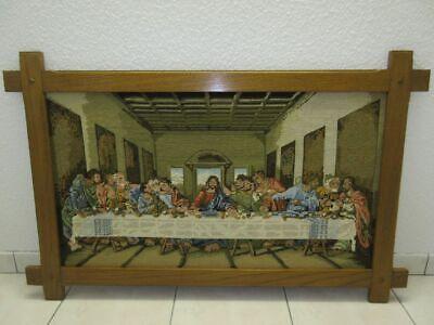 Gobelin Bild Das Letzte Abendmahl Handarbeit Mit Eiche Rahmen 70 X 1,10 M Grade Produkte Nach QualitäT Dekoration