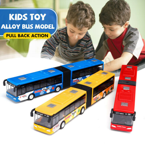 1:64 Baby Pull Back Shuttle Bus Diecast Model Toy Vehicle Kids Cool    h J