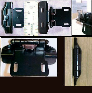 16 lot black kitchen cabinet overlay hinges new spring for Black hinges for kitchen cabinets