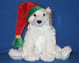TY SNOWDRIFT the POLAR BEAR BEANIE BABY - MINT with MINT TAGS