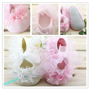 Cute Non-Slip Newborn Baby Toddler Shoes With Beautiful Lace 2 Colors