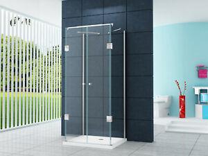 Home-Systeme-U-Form-Duschkabine-BENITO-Dusche-Duschabtrennung-mit-Duschtasse