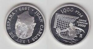 1000-Pesetas-Silbermuenze-Spanien-Olympiade-Sydney-2000-Wasserball-1999-116023