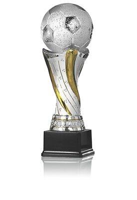 Glaspokal Trophäe Award Auszeichnung aus Glas Höhe 26cm
