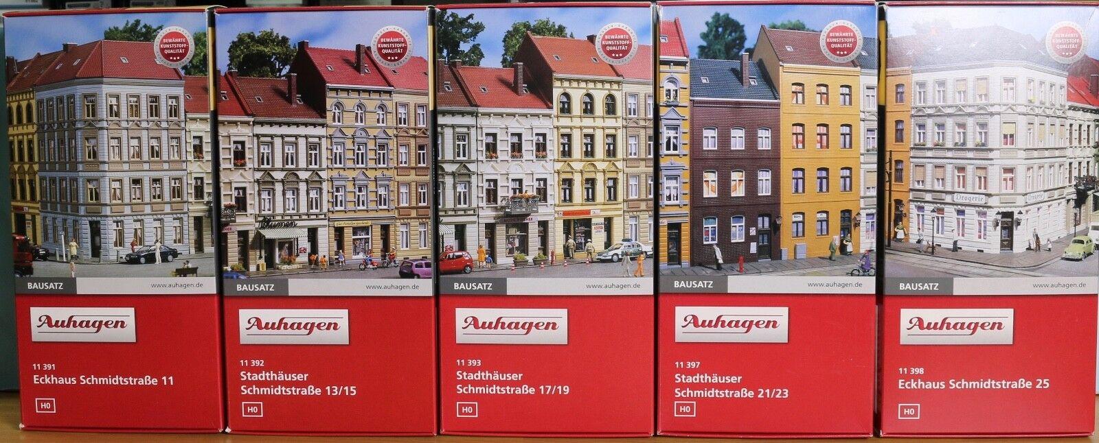 Auhagen 11391, 11392, 11393, 11397, 11398,  Spur H0 , Häuserzeile Schmidtstraße  | Großhandel