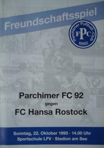 Programm 22.10.1995 Parchimer FC 92 Hansa Rostock