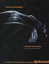 Publicité Advertising 2000  PNEU CONTINENTAL le nouveau Conti Premium Contact
