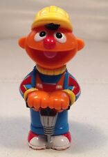 """RARE SESAME STREET """"ERNIE with JACK HAMMER and HARD HAT"""" * TOY FIGURE"""