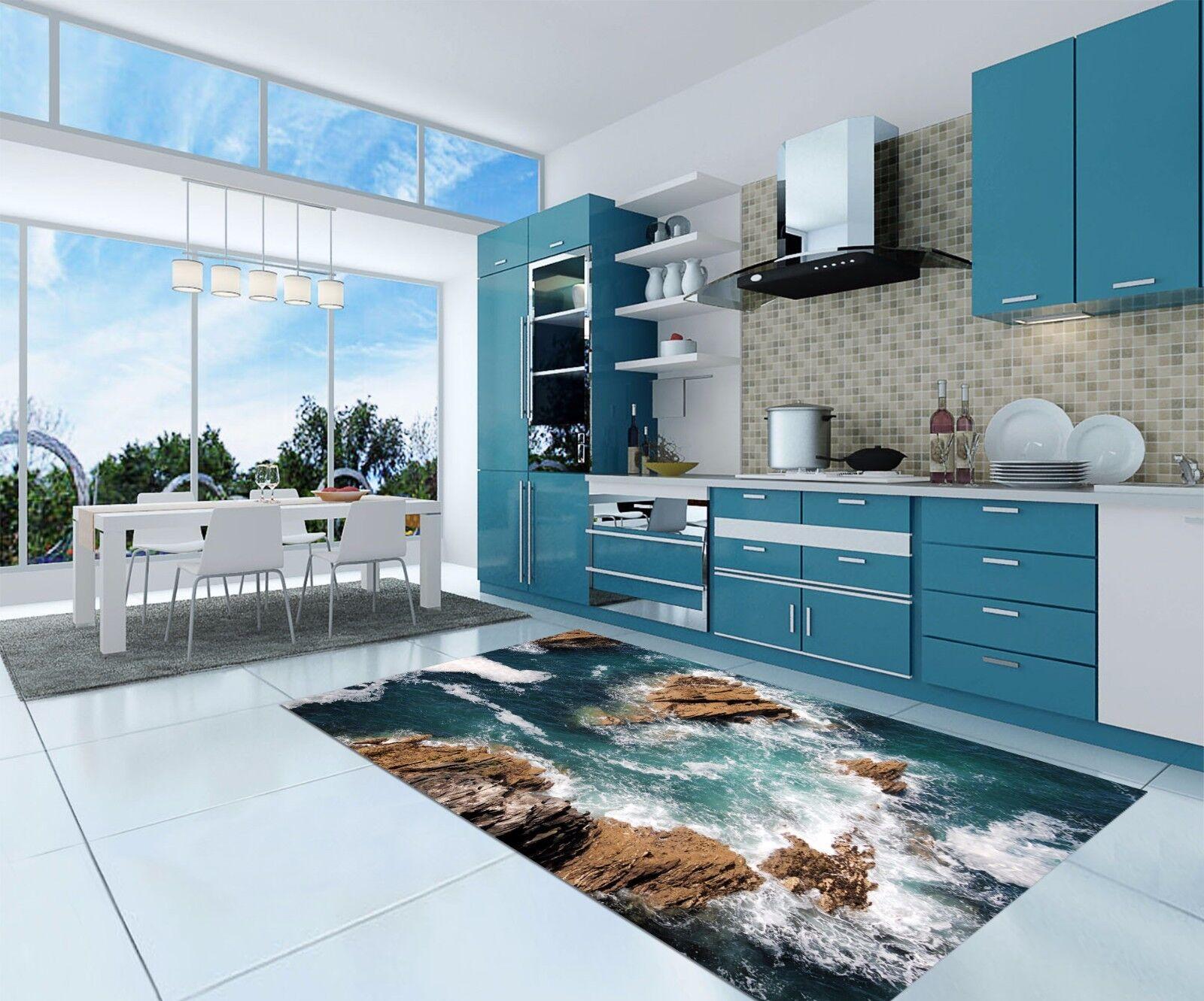 3D Stone Water 555 Kitchen Mat Floor Murals Wall Print Wall AJ WALLPAPER AU Kyra
