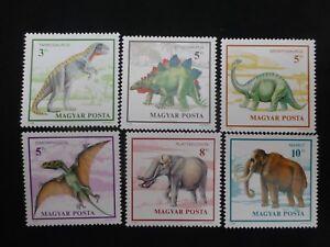 Ungarn -MiNr 4110A-4115A Postfrisch Komplettsatz Pracht Prähistorische Tiere -mi
