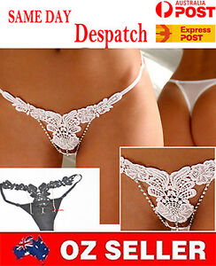 5e3a005b0 Image is loading Sexy-Lingerie-Crystal-G-string-panties-Bridal-Wedding-