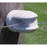 Zareba Mp-1929 Electric Fence Insulators, Porcelain, Screw-in