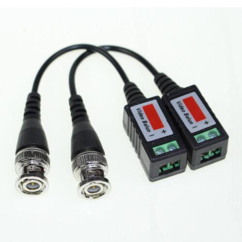 10 Pcs CCTV Camera Passive Video Balun BNC Male Connector Coaxial Cable Adapter