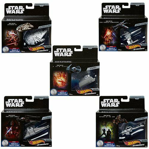 BRAND NEW Hot Wheels Star Wars Commemorative Starships Set of 5
