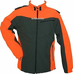 Willensstark Softshell-jacke,softshell-forstjacke,grau/orange,größe Xxl Neu!!! Business & Industrie
