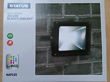 Black LED Flood Light Lamp 30w Wall Mounted Security Great Value!