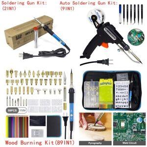 Electric-Soldering-Iron-Kit-110V-60W-Auto-Welding-Gun-Desoldering-Pump-Tool-Set