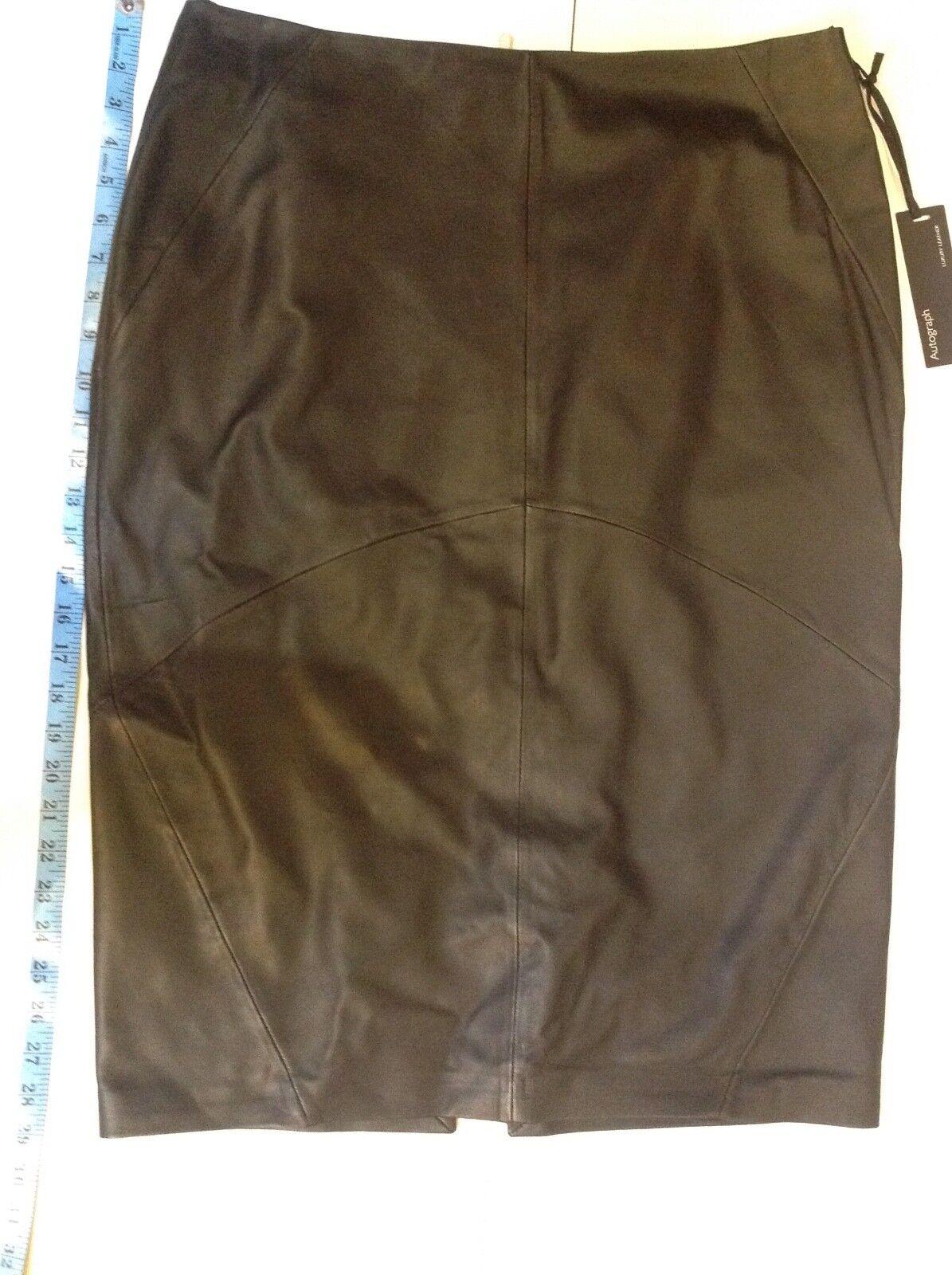 Autograph Luxury leather skirt Größe  16