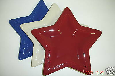 Longaberger Woven Tradition Star Plate Pottery Paprika Retired New In Box