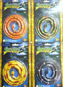 Toy Reptile Snake (approx 96cm Long) Black, Green, Yellow or Orange