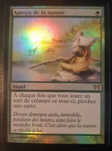 Apercu-de-la-nature-PREMIUM-FOIL-VF-French-Glimpse-of-Nature-Mtg-magic