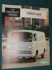 1965 CHEVROLET VAN SALES CATALOG / BROCHURE / ORIGINAL