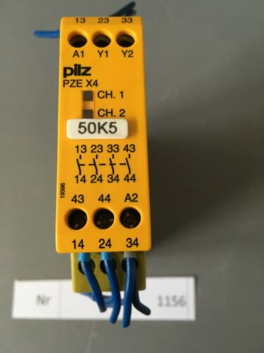 Pilz Sicherheitsrelais   Typ PZE X4 24VDC 4n//o   Nr 774585