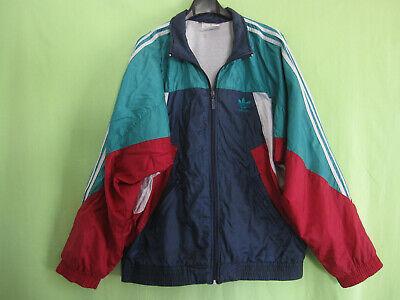 Veste Adidas Nylon Polyamide 90'S marine vert Vintage