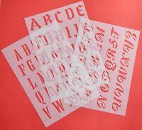 Buchstaben ABC Schablonen Schriftschablonen Alphabet verschiedene Schriftarten