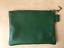 Pochette-cuir-vert-sapin-avec-ruban-fantaisie miniature 2