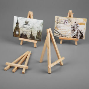 Details About 10pcs Wooden Mini Easel For Wedding Artwork Display Table Name Card Stand Holder