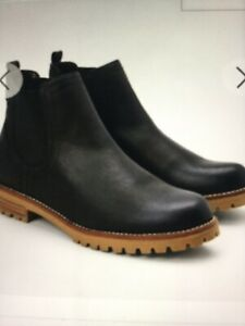 Black Leather Chelsea Boots Uk 9 Wide