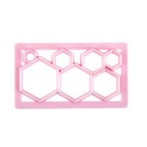 4pcs Hexagon Plastic Cookie Cutter Fondant Cutter Mold Cake Decorating Tool Sg Other Baking Accessories Baking Accs. & Cake Decorating