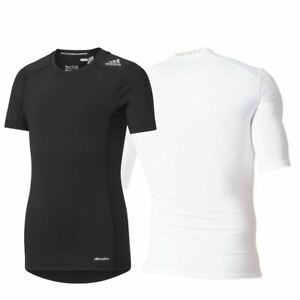 Detalles de Adidas Techfit Base Compresión superior Niños Chicos Chicas Fitness Camiseta De Capa Base Negra ver título original
