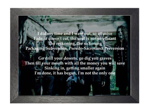 Slipknot Psychosocial American Heavy Metal Rock Band Song Lyrics Poster